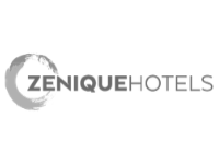 Zenique hotels logo| Intouch Insight client