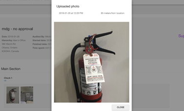 Verify when and where inspection photos are taken