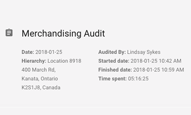 Verify how long audits and inspections take