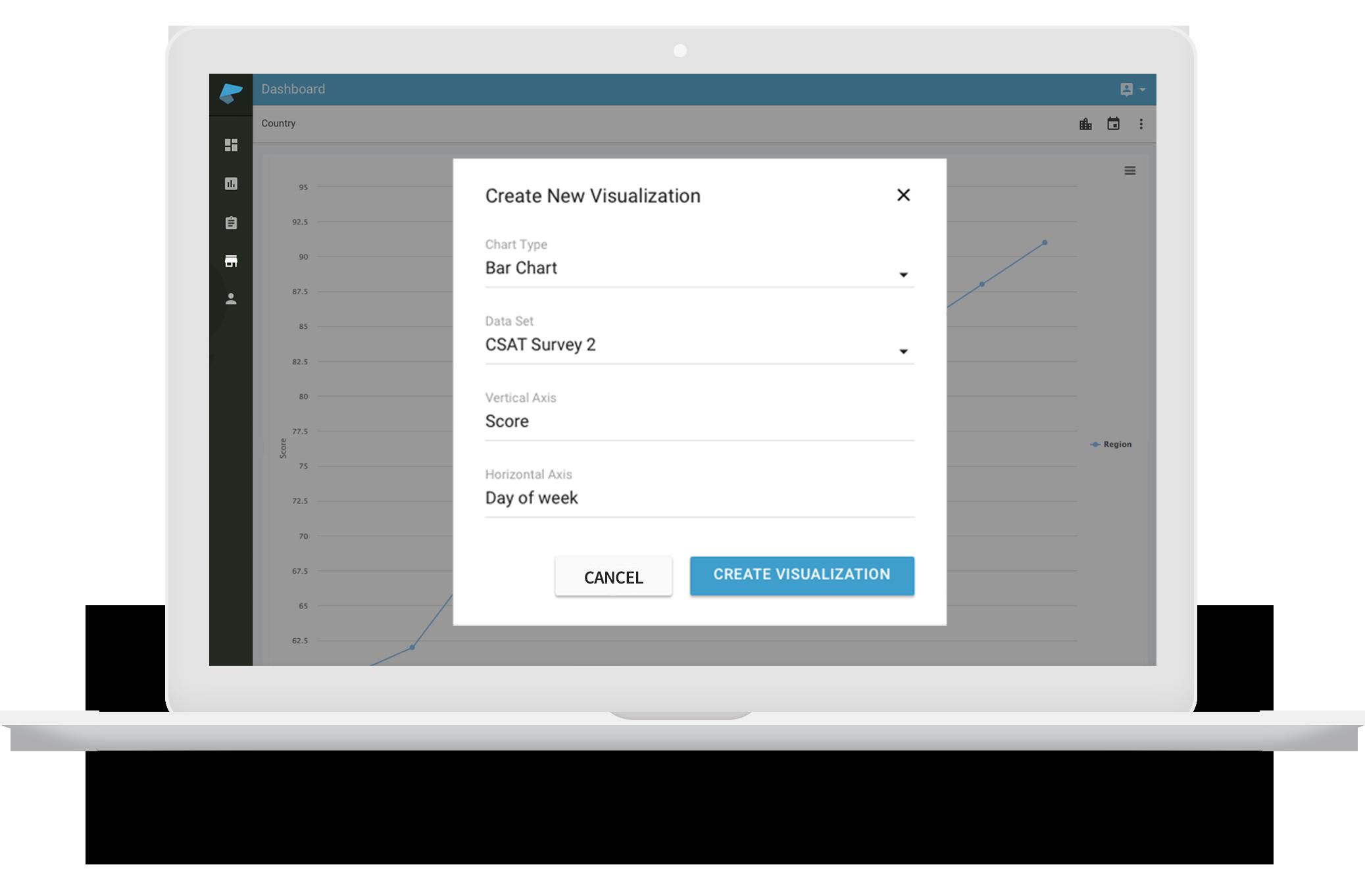 Build custom customer experience management dashboards