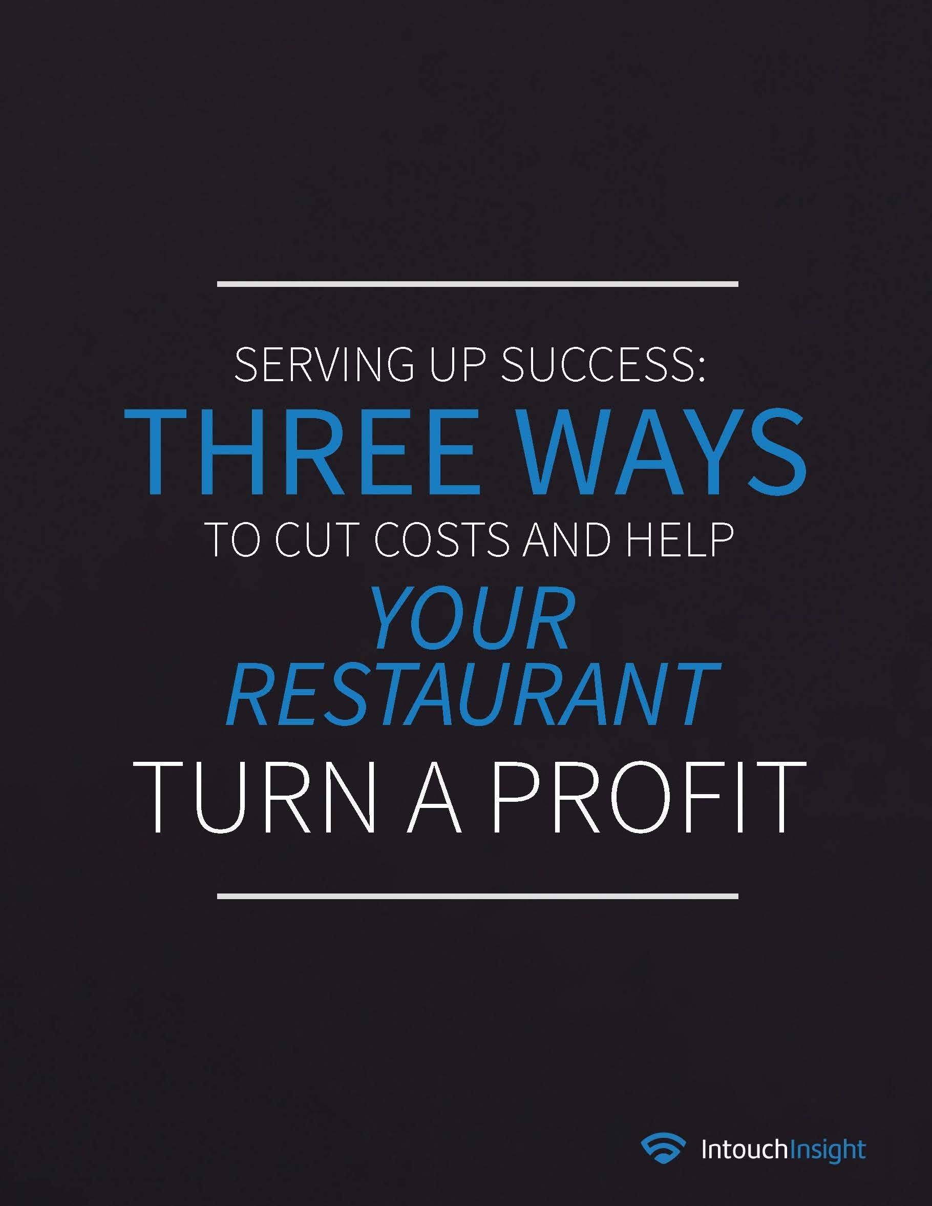 Three Ways to Cut Restaurant Costs