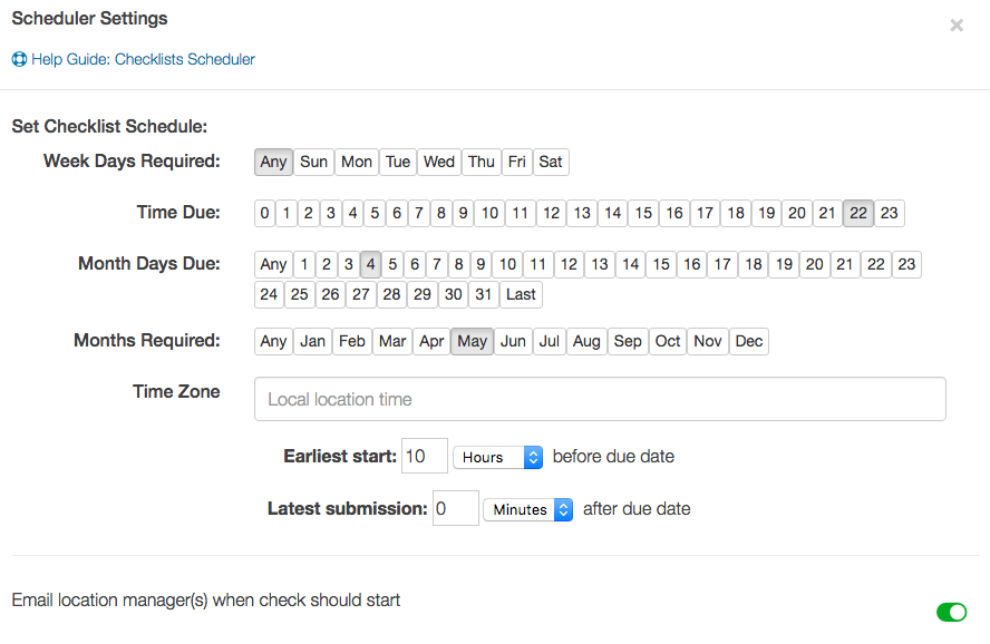 Screenshot of IntouchCheck and how easy it is to create and schedule checklists for upcoming retail campaigns